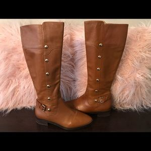 Michael Kors Tall Boots with Glam Gold Lining!